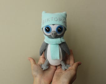 Gray Owl Plush Toy can be personalized