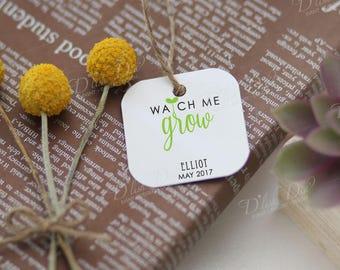 Watch me grow tags,Printable favor tags,custom wedding favor tags,let love grow tags,printable watch me grow tags,custom tags for teacher