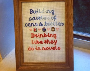Thick as Thieves by the Menzingers Cross Stitch