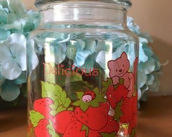 American Greetings Strawberry Shortcake Glass Jar