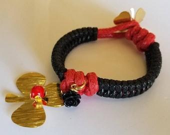 Woven club bracelet