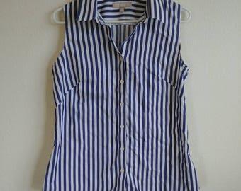 Vintage Indigo Stripe Top