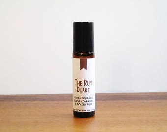 THE RUM DIARY / Cuban Tobacco Clove Caramel & Golden Rum / Book Inspired / Hunter S Thompson / Roll-On Perfume Oil