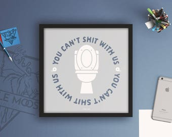funny bathroom decor you cant shit with us funny wall art bathroom wall