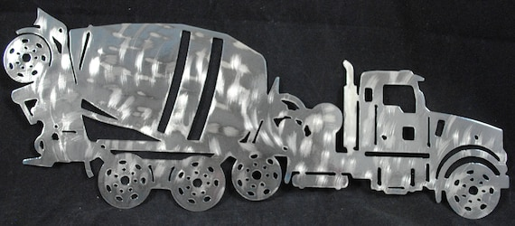Concrete Mixer, Metal Concrete Mixer, Metal Wall Hanging, Truck Driver, Heavy Equipment, Heavy Equipment Operator, Construction Equipment