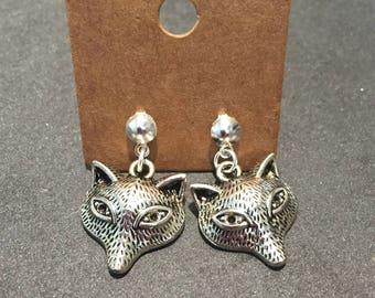 Head Stud Earrings Fox