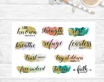 Christian Planner Stickers, Prayer Journal, Scripture Stickers, Happy Planner, Illustrated Faith, Bible Journaling, Christian Planner