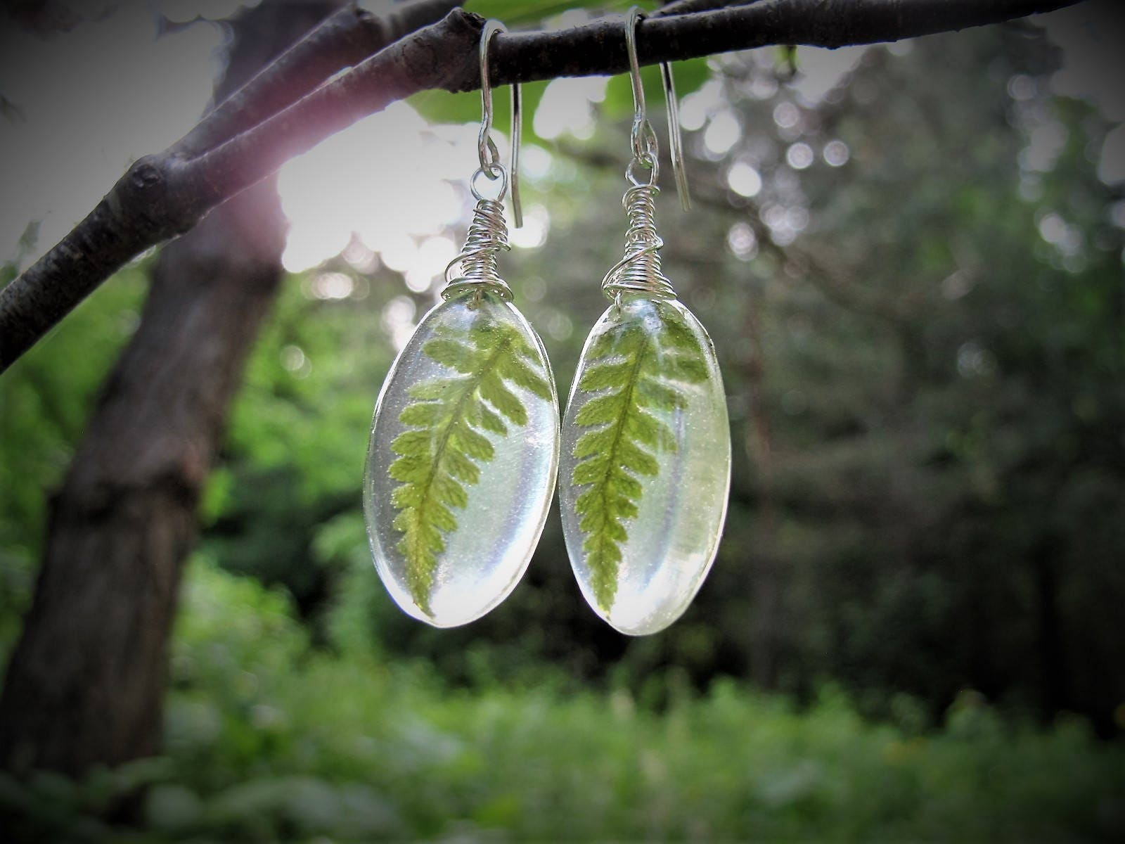 Winter Woods Jewelry # Terrarium Dangle