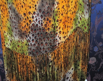 Fringed scarf Yves St Laurent
