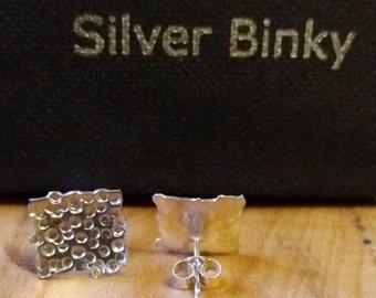 Sterling silver handmade stud earrings free uk shipping