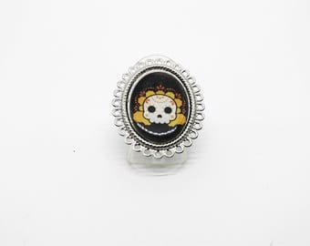 Skull ring Calavera - Mexican - sugar skull - dia los muertos - day of the dead