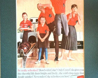 Vintage Coca Cola ad 1960