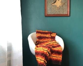 Bohemian Blanket. Fringe Blanket. Boho Throw Blanket. Boho Afghan Blanket. Retro Blanket. Hippie Blanket. Knitted Afghan. Woven Blanket