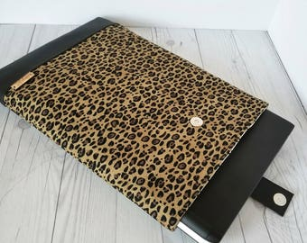Leopard Laptop Sleeve, Laptop Case, Tablet Sleeve, Tablet Case, Macbook Sleeve, Macbook Case, 12 inch, 13 inch, 14 inch, 15 inch,  Gift Idea
