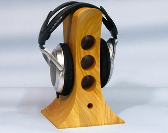Stand for headphones from wood, original design