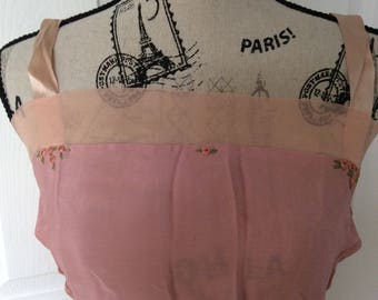 1920s Never Worn Pink and Lavender Silk Chiffon Bandeau Bra