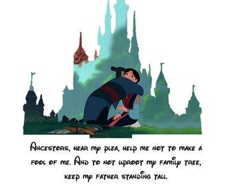 Disney castle silhouette Mulan