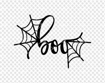 Halloween SVG, boo SVG, Digital cut file, spider web svg, spooky svg, spider svg, commercial use OK