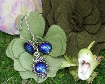 Saphira Dragon Scale Jewelry, Sapphire Dragon,Dragon Scale Earrings,Dragon Scale Pendant,Mythological Creatures,Dragon Rider,Literary Dragon
