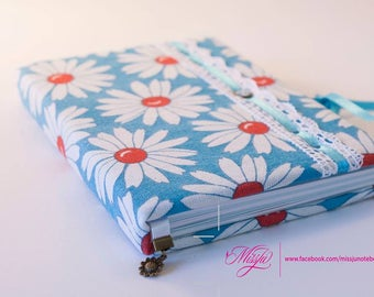 flowered notebook A5 notebook summer gift summer party unique gift summer wedding gift to friend gift to sister gift for her guest book