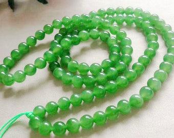 8mm A Grade Natural Jasper Jade Round Beads, Green Jade Beads, Gemstone Beads