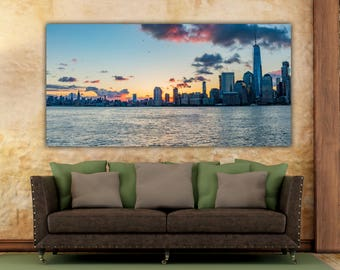 Manhattan skyline, New York Skyline, Manhattan Print, Manhattan, Manhattan wall art, Midtown Manhattan, Manhattan Photos, Freedom Skyline,