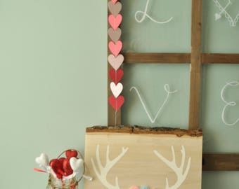 Love You Deerly Woodland Rustic Sign with Felt Flowers, Woodland Sign. Love You Deerly Sign, Antler Sign