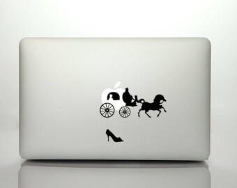 Peel N' Stick Macbook Disney Cinderella Carriage Vinyl Decal Sticker Set. Fits Macbook, Macbook Pro, Macbook Air.