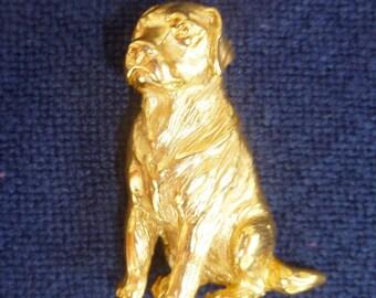 Vintage Labrador Retriever Dog Pin Gold Plated Elias