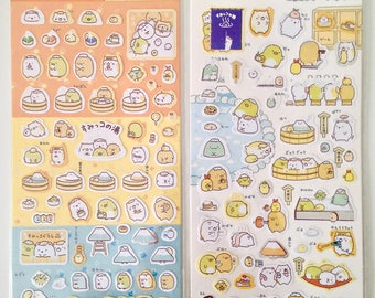 Sumikko Gurashi hot springs relaxation stickers cute kawaii polar bear cat penguin cutlet tapioca weed