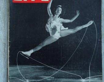 1945 Magazine - Life Magazine - Figure Skating - 1945 Vintage Figure Skating - Vintage advertising - Paper Ephemera - Scrapbooking ads, Ads
