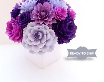 Ready Made Paper Flower Arrangement | Custom Colors | Birthday Gift | Gifts for her | Floral Arrangement |Christmas Gifts