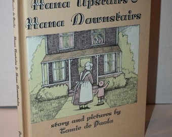 Hanna Upstairs & Hanna Downstairs By Tomie de Paola 1973 HC Weekly Reader Books