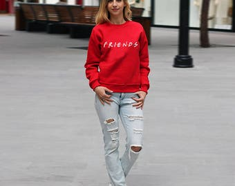 TV Show Friends Sweatshirt Tumblr Clothing Friends Sweater Movie Jumper Friends tv Series Sweater Friends tv Frame Birthday Gift PA3029