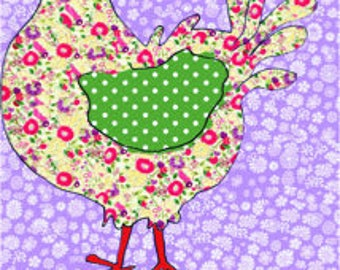 Chicken Tea towel, cotton hen dish towel, pretty kitchen towel, cute kitchen decor, with slogan 'Alright Chuck' gift for friend by MollyMac.