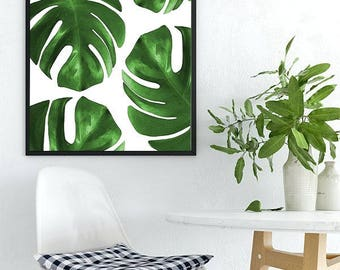 Monstera Prints, Monstera Art, Monstera Photography, Monstera Leaf, Tropical Leaf, Minimalist leaf, Leaf Printable Download, Instant Leaf