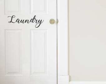 Laundry Room Vinyl Door Decal