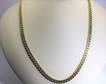 14  K Yellow Gold Cuban Link Chain 18 inches