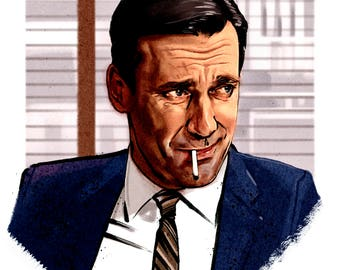 Mad Men, Don Draper (Jon Hamm) poster.