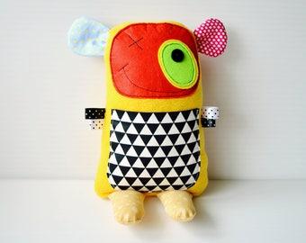 Monster plush toy Stuffed monster Plushies Monster Doll Gift for the child Kind soft monster Color Monster Yellow Monster Toys cotton fleece