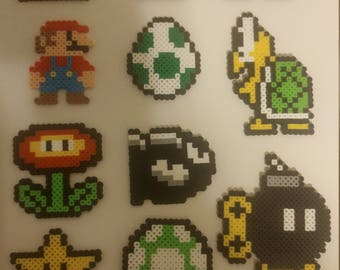 Super Mario Collection Perler Bead Art!