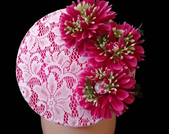 Pink Fascinator, Racing Hat, Melbourne Cup Hat, Spring Racing Hat, Fascinator, Racing headpiece, Womens/Ladies Hat, Bespoke Hat CHARLOTTE