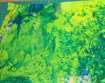 Colorwash-Rainforest Cotton Fabric from Frond Design Studios