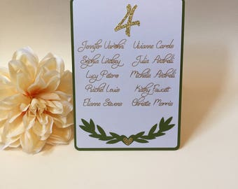 Wedding Seating Chart Cards, Wedding Seating Chart, Greenery Wedding Seating, Custom Seating Chart, Personalized Wedding Place Cards