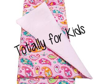 Monogrammed Nap Mat Roll Up Nap Mat Daycare Nap Mat Personalized Sleep Mat Kindergarten Nap Sack Preschool Nap Pad with Pillow Paisley