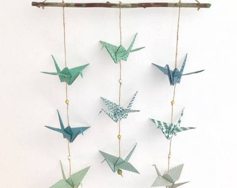 MOBILE GARLANDS of origami cranes