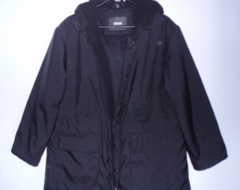 Men's Black Jacket Cold Winter Jacket Warm Winter Jacket  With Zipper Jacket  Hooded Jacket  Jacket with Many Pockets