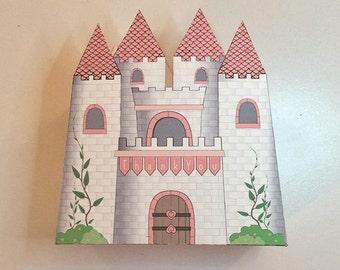Princess Birthday Party, Favor Gift Box - Printable