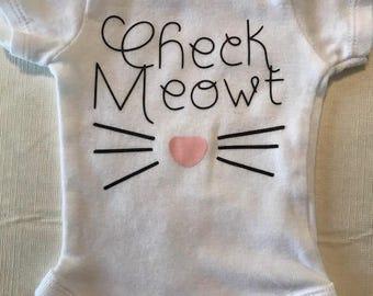 Check Meowt Baby Onesie