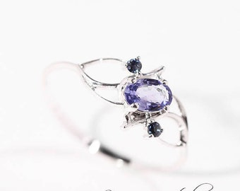 Sterling Silver Blue Sapphire Ring, Natural Sapphire, Blue Sapphire, Engagement Ring, Sapphire Ring